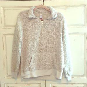 Sherpa quarter zip sweater